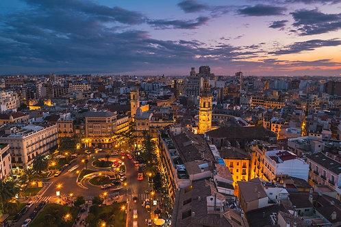 Валенсия на закате - Испания