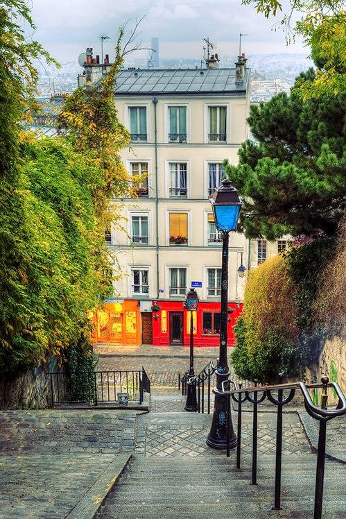 Исторический район Монмартр в Париже