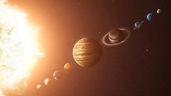 Фотообои. Фрески. Картины. Космос. Вселенная. Солнце. Планеты Солнечной системы