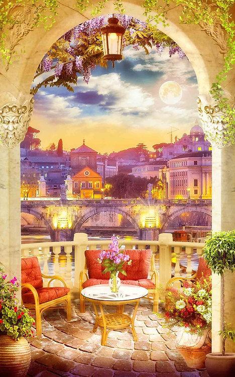 Ночной вид с итальянской террасы