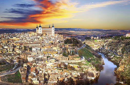 Закат над старым Толедо - Испания