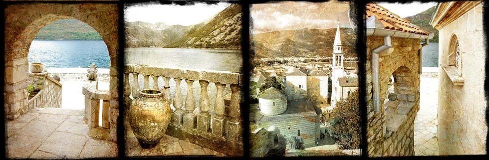 Старинная Черногория в винтажном стиле
