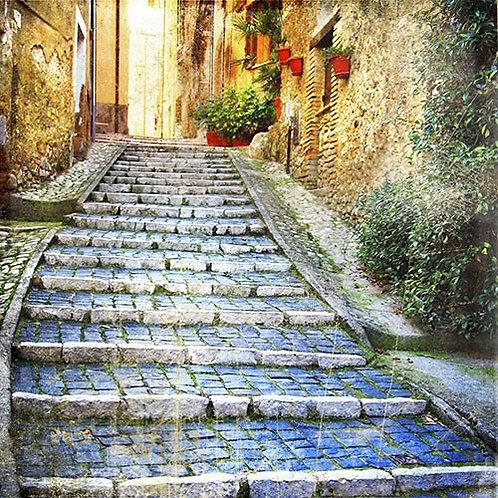Улочка старого средиземноморского городка