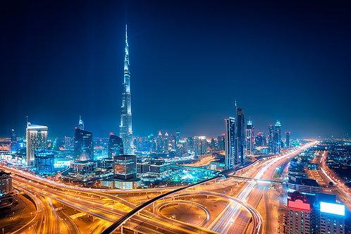Удивительная ночь в центре Дубая