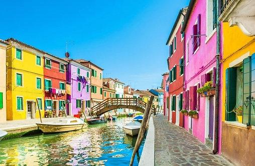 Дома в Бурано в Венеции