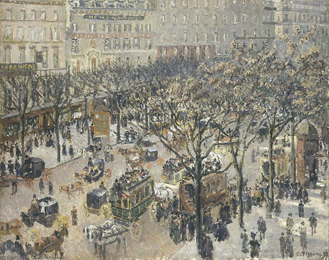 Boulevard des Italiens, Morning Камиля Писсарро - Париж