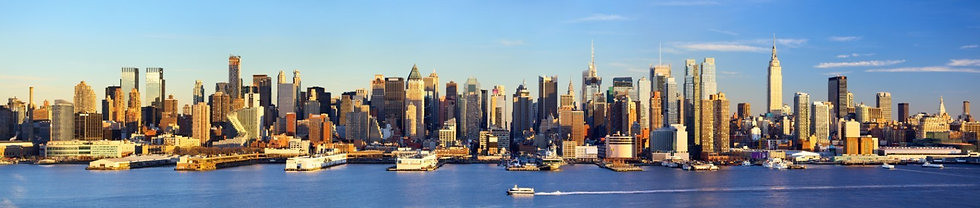 Панорама Манхэттена перед закатом