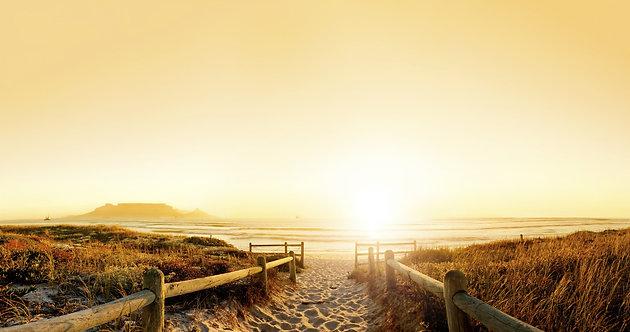 Закатная панорама пляжа возле Кейптауна - Южная Африка