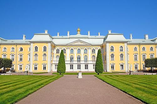 Вид на большой петергофский дворец