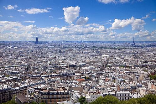 Вид на Париж и Эйфелеву башню