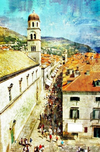 Старинный Дубровник в живописном стиле