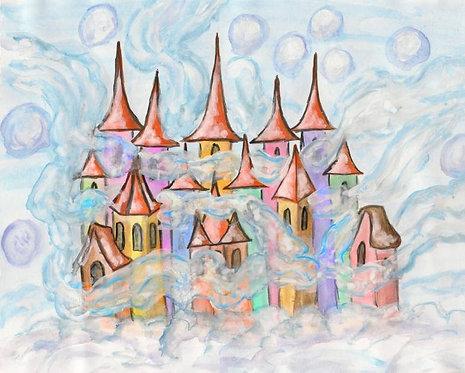 Сказочный акварельный город