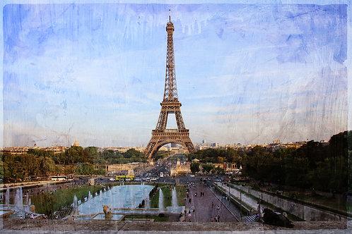 Винтажный вид Парижа