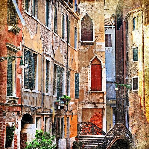 Венецианские улицы в живописном стиле