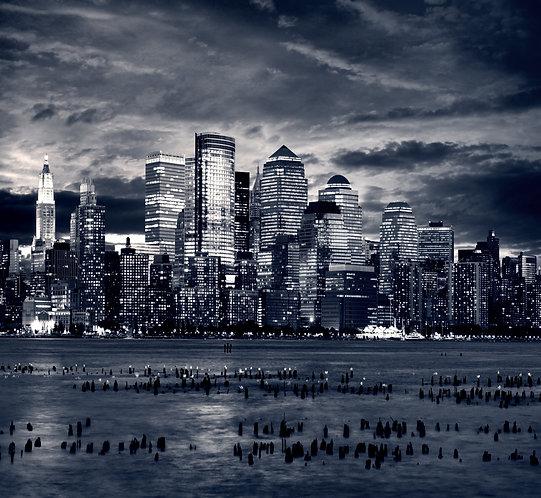 Ночной Манхэттен - Нью-Йорк