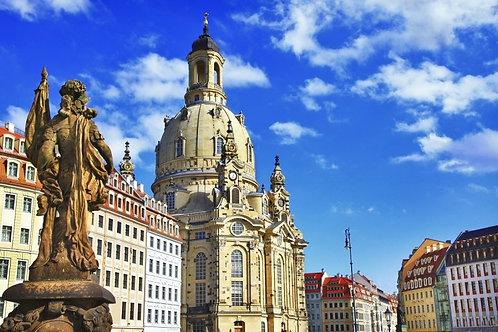 Элегантный барочный Дрезден в Германии