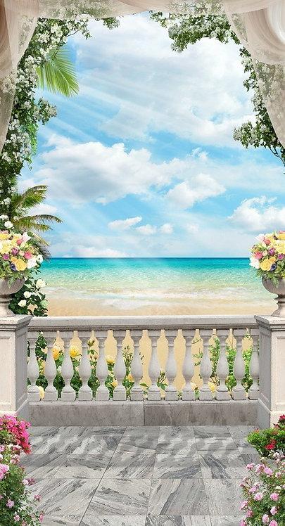 Вид на море и пляж с балкона