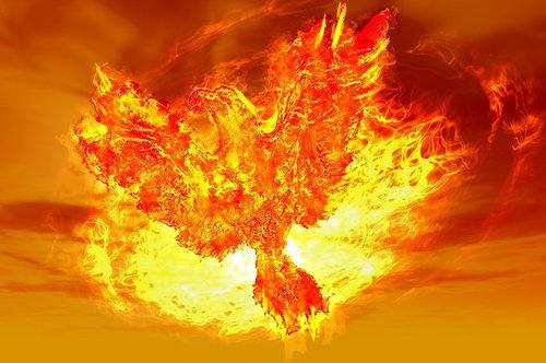 Жар-птица в виде пламени
