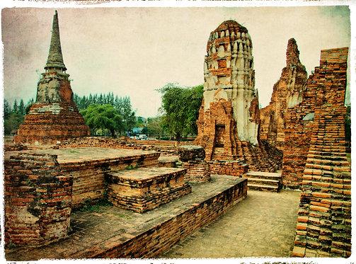 Древний город Аюттхая в стиле ретро - Таиланд