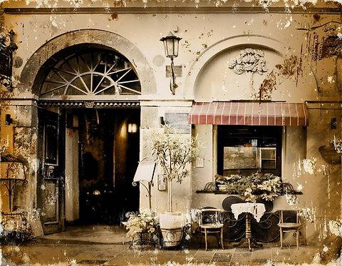 Итальянский городок в стиле ретро