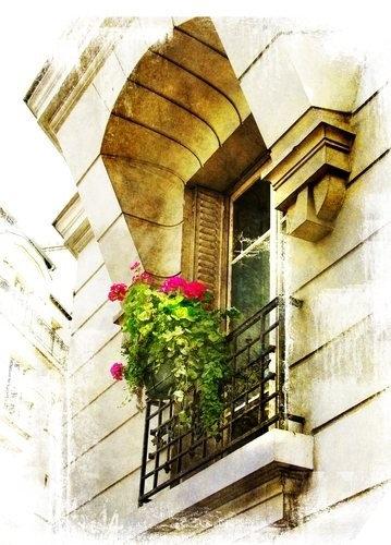 Париж в акварельном стиле