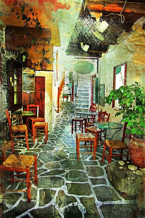 Улочка с греческой таверной