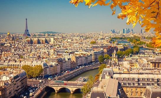 Вид на Париж с высоты птичьего полета