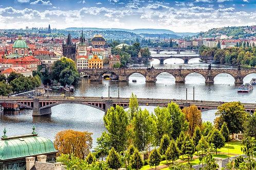 Мосты через реку Влтава в Праге - Чехия