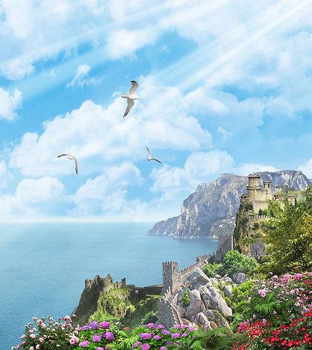 Вид на море и замок
