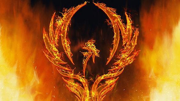 Жар-птица с пламенными крыльями
