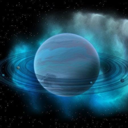 Фотообои. Фрески. Картины. Космос. Звезды. Солнечная система. Планета Нептун