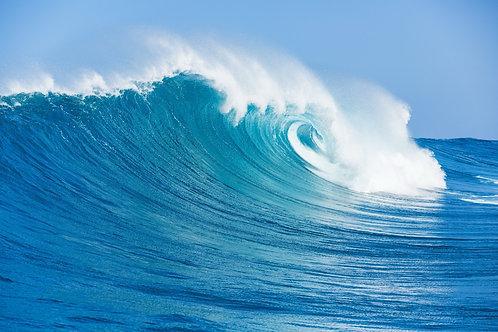 Голубая океанская волна