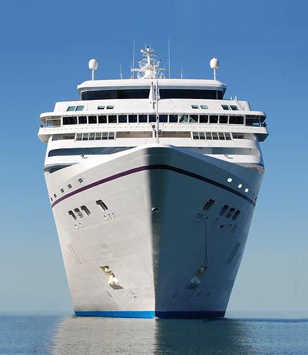 Белый круизный лайнер