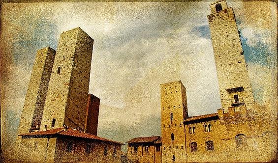 Башни Сан-Джиминьяно в ретро-стиле - Италия