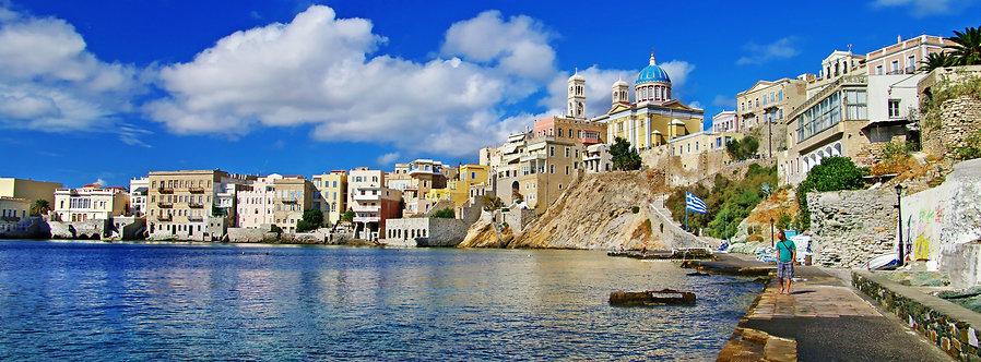 Панорама острова Сирос - Греция