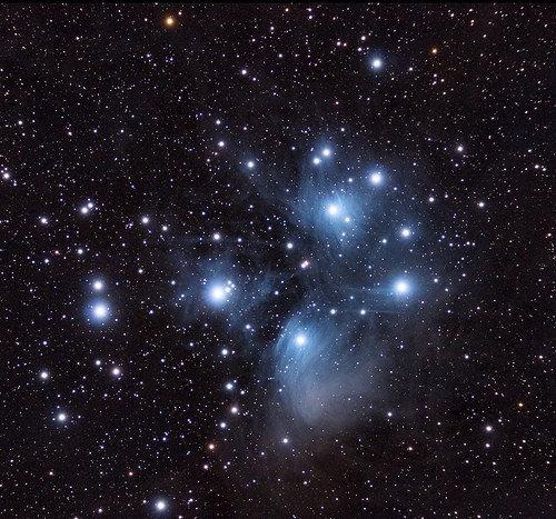 Фотообои. Фрески. Картины. Космос. Плеяды. Звездное скопление. Созвездие тельца