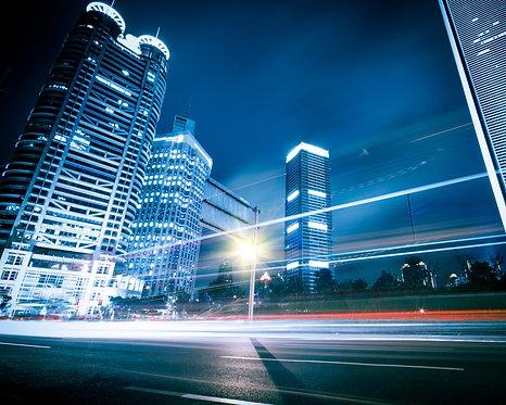 Современный ночной Шанхай - Китай