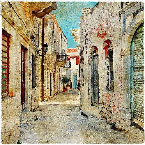 Старая греческая улочка острова Наксос