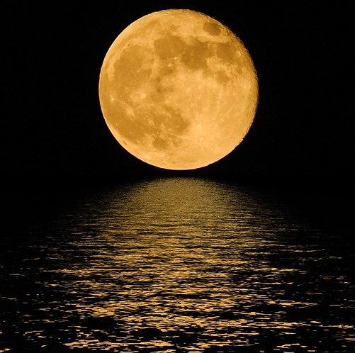 Фотообои. Фрески. Картины. Космос. Полная луна. Ночь. Вода