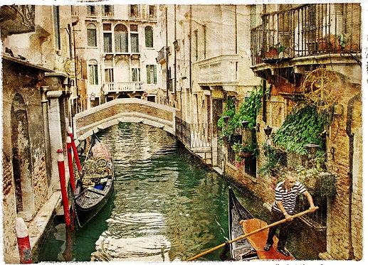 Канал Венеции в ретро-стиле