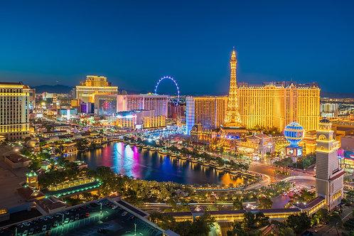 Ночной вид на Лас-Вегас в Неваде