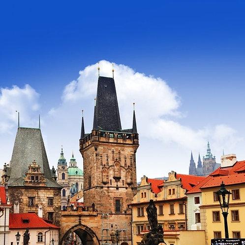 Красивый средневековый вид Праги