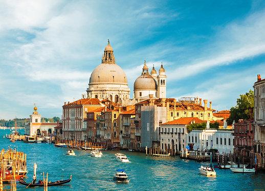 Великолепный Гранд-канал и собор Санта-Мария делла Салюте