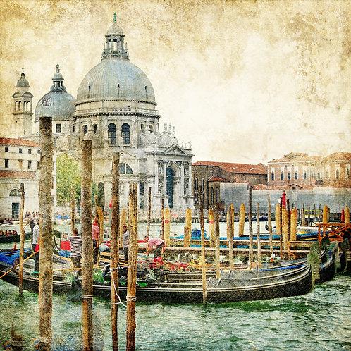Живописная Венеция в винтажном стиле
