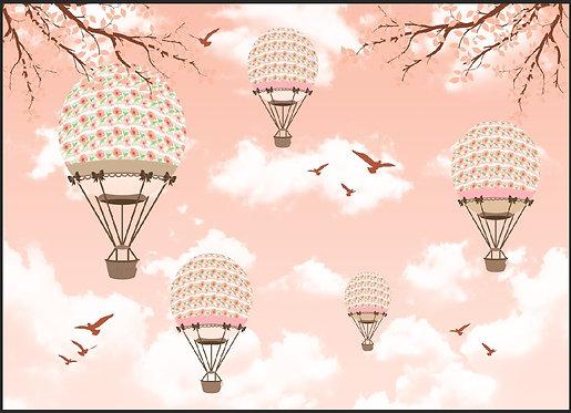 Фотообои в детскую. Воздушные шары