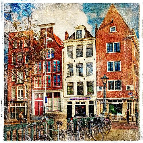 Амстердам в живописном стиле