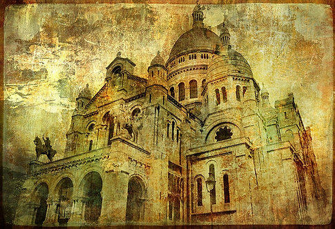 Базилика Сакре-Кёр в винтажном стиле - Париж