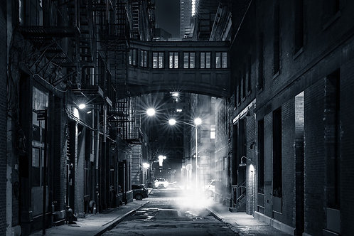 Улица в ночном Нью-Йорке