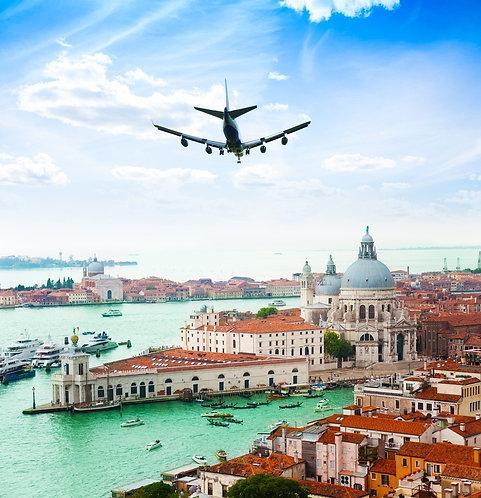 Венецианский Гранд-канал и собор Санта-Мария делла Салюте