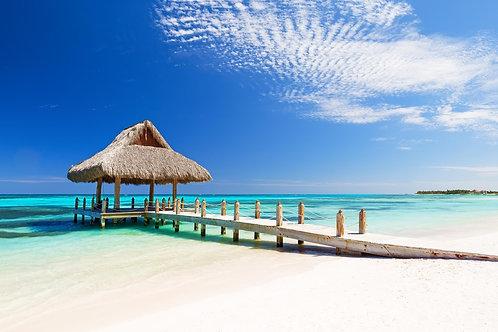 Красивый тропический белый песчаный пляж Кап-Кана - Доминиканская республика